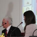 """Premiazione. Milano Palazzo Reale, 9 aprile 2013 - Melissa Magnani Menzione speciale per l'opera """"Frammenti vitrei"""""""